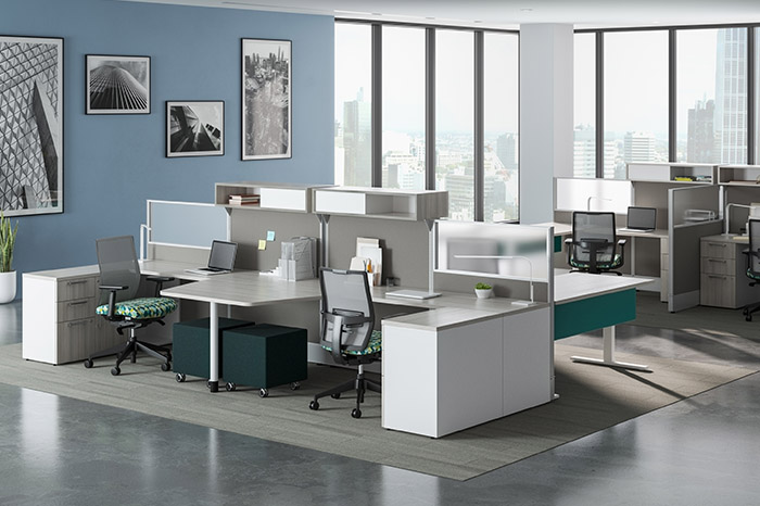 corporate desking system