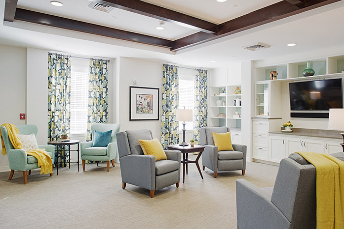 senior living common area
