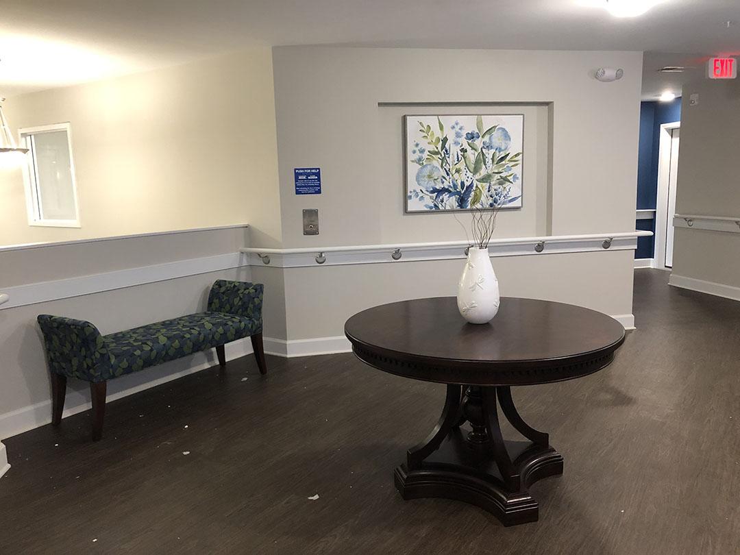 Senior Living Elevator Lobby Furniture